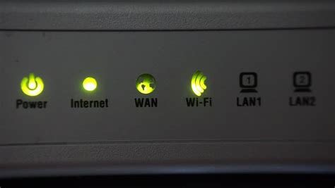 Router Lights Blinking by Connection Led Indicator Light Blinking Stock