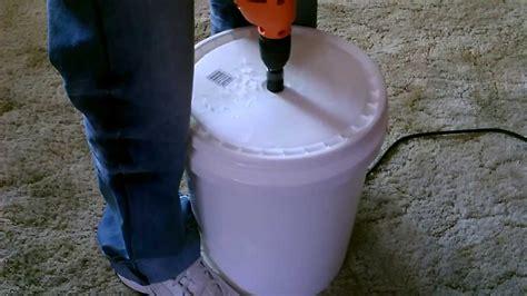 human powered washing machine diy   gallon bucket