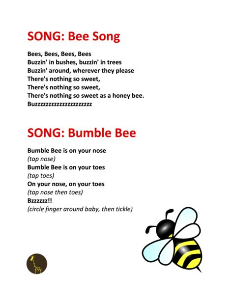 archives pdf word document files guybrarian 660 | song bee song bumble bee copy