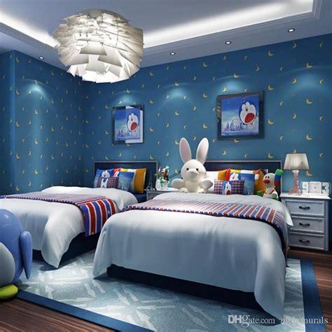 Modern Kids Room Wallpaper Cartoon Star Moon Cute Stars