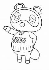 Crossing Animal Nook Tom Coloring Nintendo Copyright Disegni Colorare Da sketch template