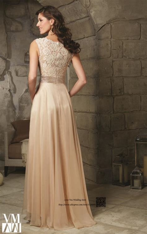 champagne lace mother   bride groom dresses beads