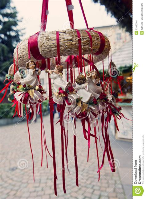 traditional german christmas decorations stock image