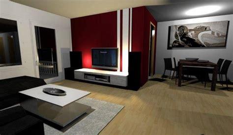 wandgestaltung ideen farbe wohnzimmer