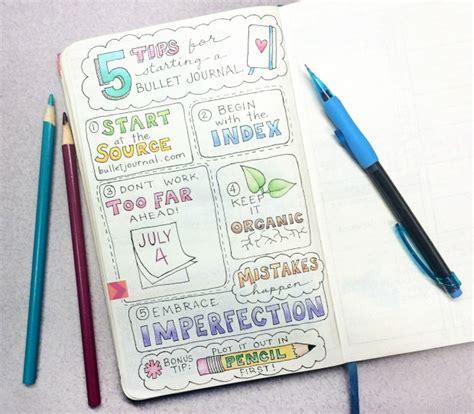 tips  starting  bullet journal  bullet journal