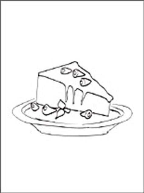 cheesecake coloring page coloring pages