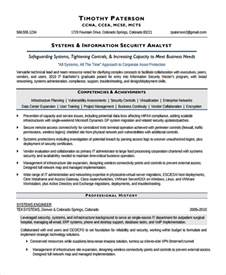 cyber security analyst resume sle information security analyst resume 7 documents in word pdf