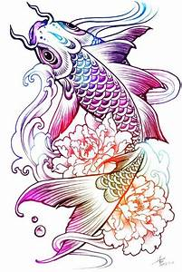 Más de 25 ideas fantásticas sobre Tatuaje Pez Koi en Pinterest Dibujo de peces koi, Tatuaje