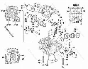 Arctic Cat Atv 2009 Oem Parts Diagram For Cylinder Head