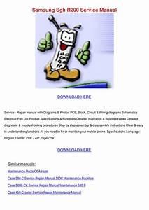 Samsung Sgh R200 Service Manual By Santosrogers