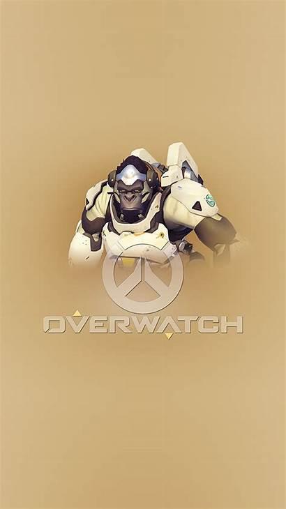 Overwatch Winston Iphone Illustration Ar96 Wallpapers Apple