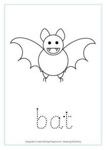bat word tracing