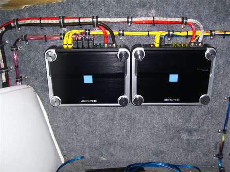 Custom Amp Install In A Boat