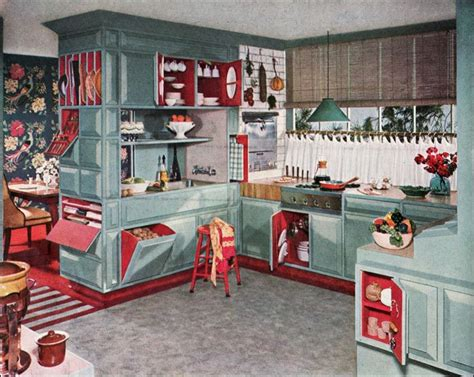1953 armstrong kitchen midcentury interior design