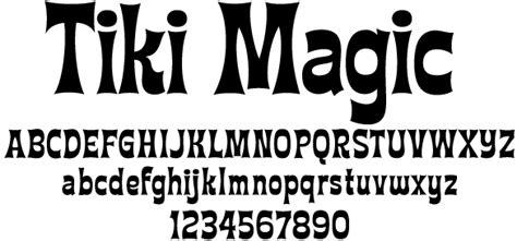 Hawaiian Luau Font  Tiki Type Try This Font View Fonts