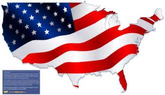 American Flag Clip Art USA Map
