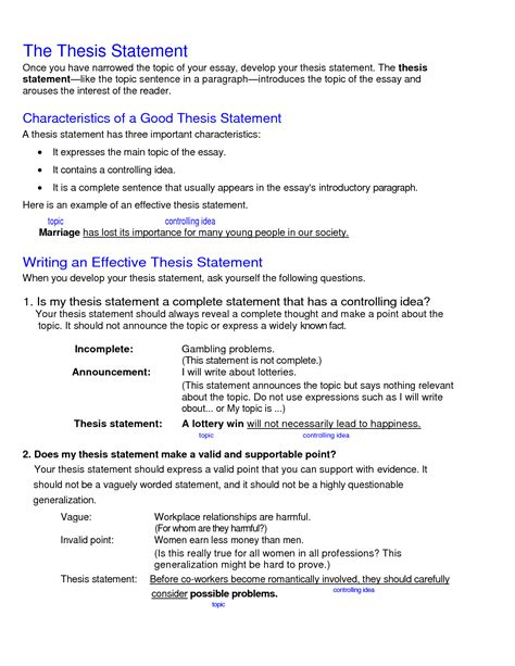 Thesis Statement For Essay On Childhood Obesity Sociology Papers