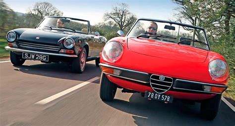 Alfa Romeo Fiat by Alfa Romeo Spider Vs Fiat 124 Sport Spider Drive