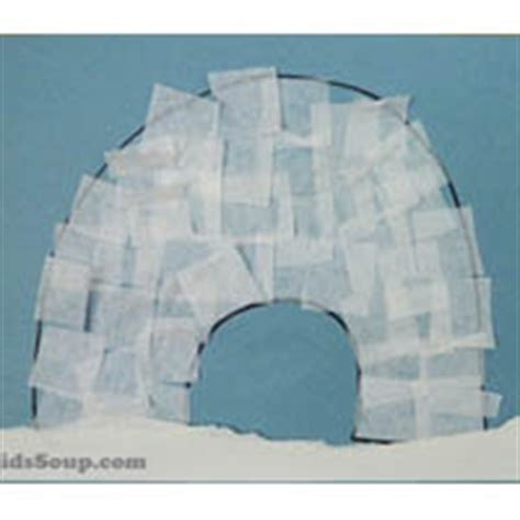 polar activities crafts lessons and printables 787 | c igloo art large