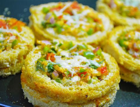 bread canape recipes mini bread pizza recipe cheesy canapes by archana 39 s