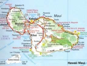 Hawaiian Islands Maui Map