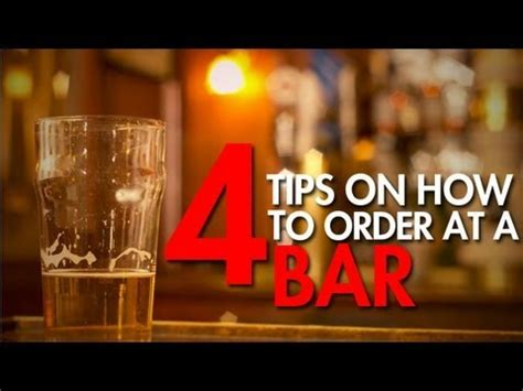 Top Drinks To Order At A Bar - how to order a drink at a bar