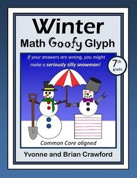 free christmas glyphs for fourth grade winter math goofy glyph 7th grade common tpt math lessons fourth grade