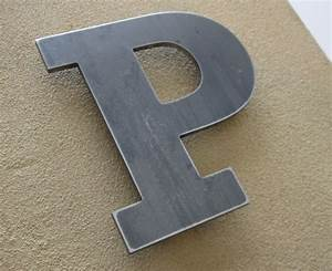 Metal letters pictures to pin on pinterest thepinsta for Aluminum letters