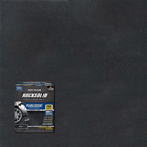 rust oleum rocksolid  oz pearlescent graphite garage