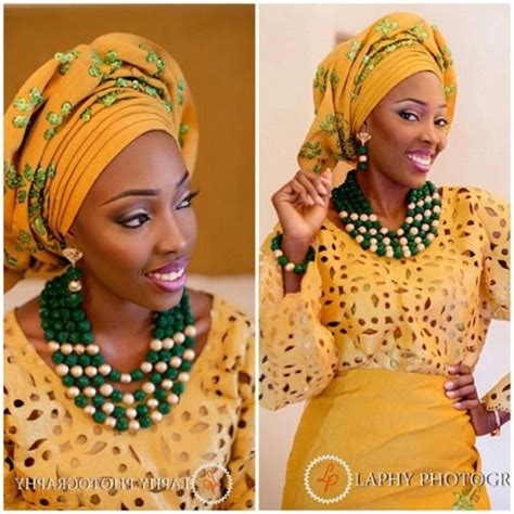 flapper hair styles mustard yellow and emerald green aso oke lovely combo 8726