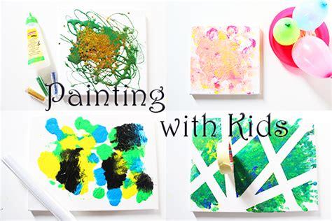 ideen zum malen mit kindern auf leinwand video mama kreativ