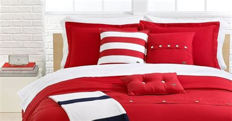 33032 lacoste bed set lacoste bedding solid roccoco brushed twill comforter