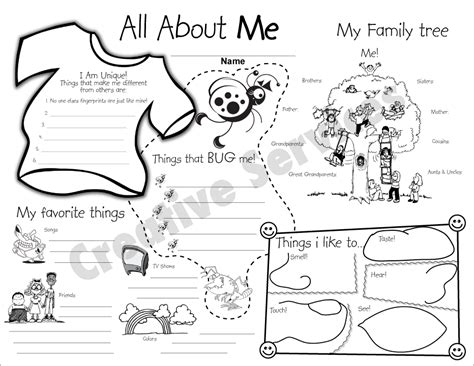 all about me all about me worksheetstake the pen