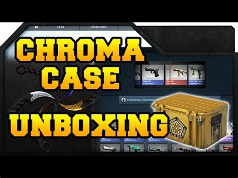 cs go chroma unboxing new knife skins