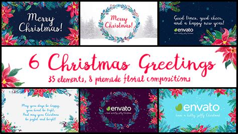 after effects template christmas greetings 2017 6 christmas greetings after effects template videohive