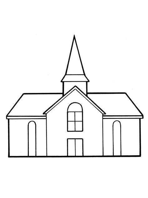 church clipart a line drawing of a meetinghouse from the nursery manual