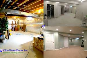 Unfinished Basement Ideas Low Ceiling by Basement Remodeling And Finishing In Dayton Ohio Ohio