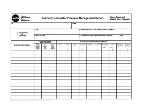 monthly report templates  word adobe