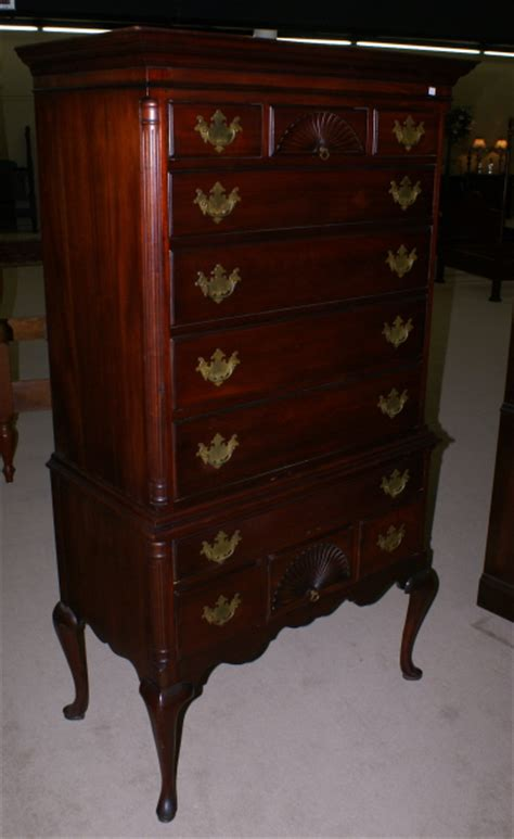 drexel mahogany queen anne high boy