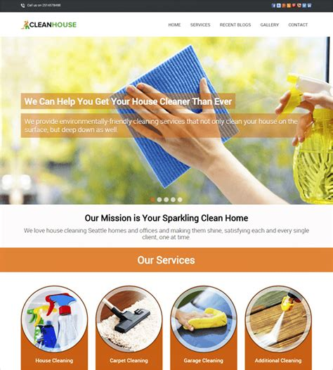 Clean Themes 10 Best House Cleaning Housekeeping Themes