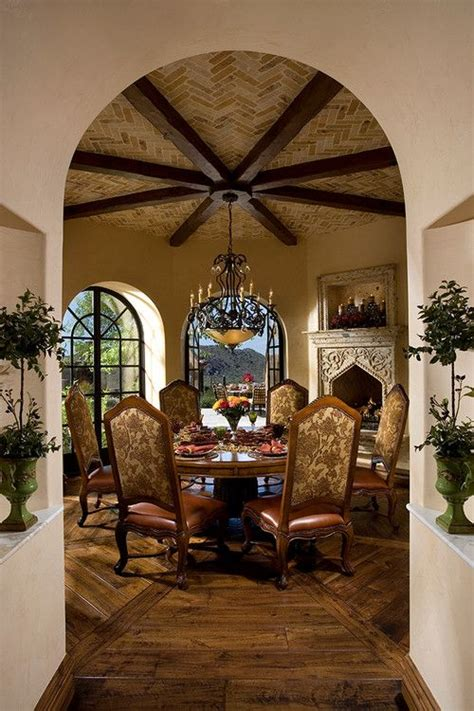 Breakfast Room In A Mediterraneanstyle Arizona Home