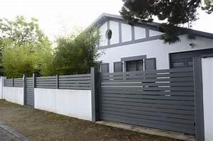 Portail De Maison : portail cl ture aluminium sur mesure devis gratuit ~ Premium-room.com Idées de Décoration