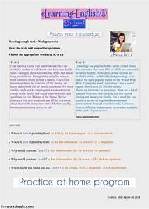 Genealogy Worksheets Reading B1 Interactive Worksheet