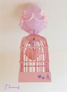 Lustre Bébé Fille : lustre suspension fille cage petit coeur rose et parme enfant b b luminaire enfant b b ~ Teatrodelosmanantiales.com Idées de Décoration