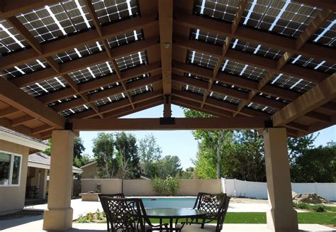 integration of lsx into outdoor dining area roof lumos solar