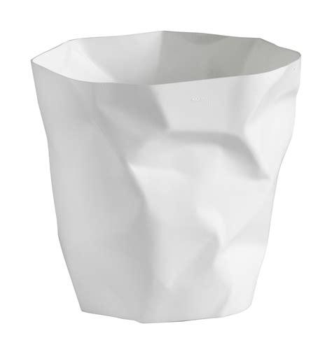 poubelle bureau design corbeille bin bin mini h 25 blanc essey