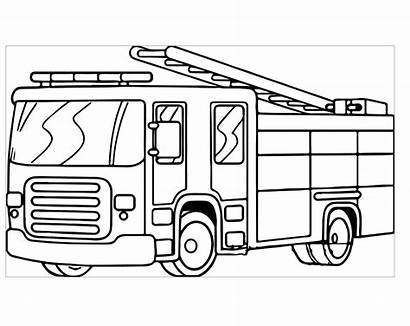 Coloring Fire Truck Pages Printable Firetruck Sheet