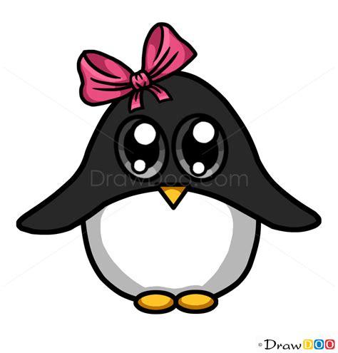 cute cartoon penguin drawing