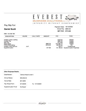payslip sample forms  templates fillable printable