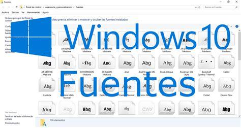 como instalar diferentes de texto en windows 10